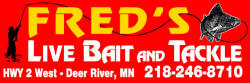 Fred's Live Bait & Tackle, Deer River Minnesota