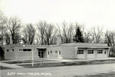 City Hall, Fulda Minnesota, 1950's?