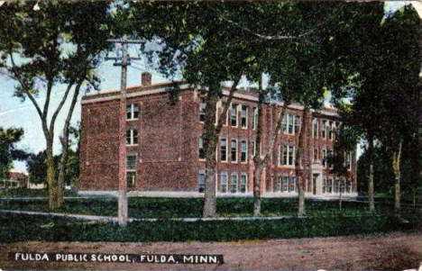 Fulda High School, Fulda Minnesota, 1908
