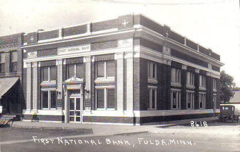 First National Bank, Fulda Minnesota, 1920's