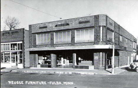 Reusse Furniture, Fulda Minnesota, 1930's