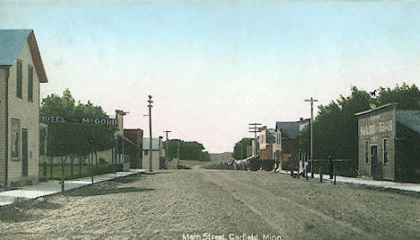 Main Street, Garfield Minnesota, 1908