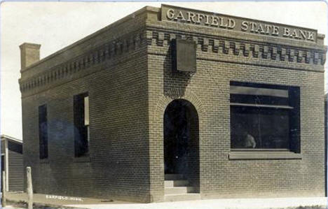 Garfield State Bank, Garfield Minnesota, 1910's