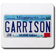 Garrison License Plate Mousepad