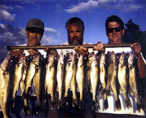 Fishing on Mille Lacs with Guide Dick Grzywinski, 2006