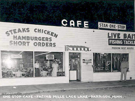One Stop Cafe, Garrison Minnesota, 1954