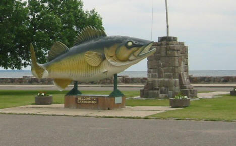 Another view of the famed giant walleye in Garrison Minnesota