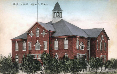 High School, Gaylord Minnesota, 1910's