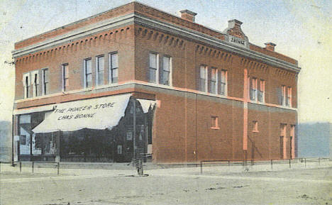 J. Henke Block and the Pioneer Store, Gaylord Minnesota, 1909