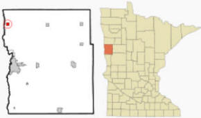Location of Georgetown, Minnesota