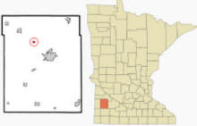 Location of Ghent, Minnesota