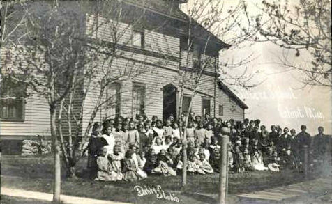 School and students, Ghent Minnesota, 1911