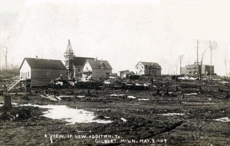 New addition to Gilbert Minnesota, 1909