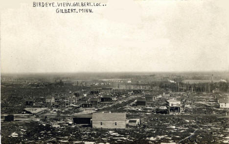 Birds eye view, Gilbert Minnesota, 1909