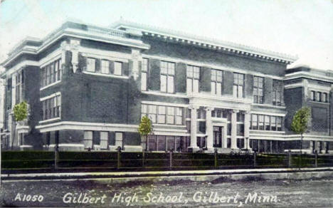 Gilbert High School, Gilbert Minnesota, 1918