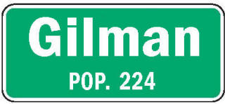 Gilman Minnesota population sign