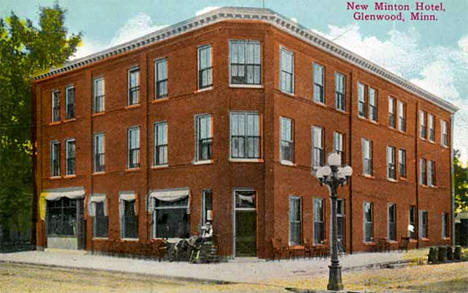 New Minton Hotel Glenwood Minnesota 1905