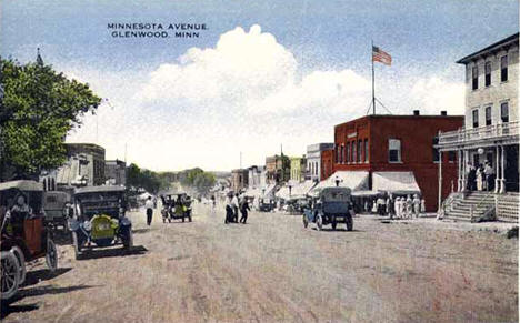 Minnesota Avenue, Glenwood Minnesota, 1910