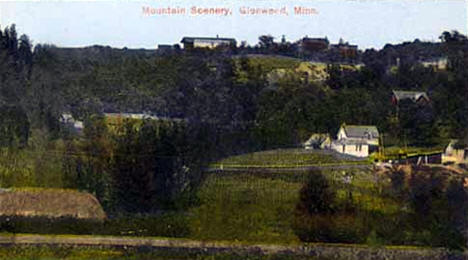 View of Glenwood from below the hill, 1920