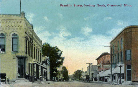 Franklin Street looking north, Glenwood Minnesota, 1911