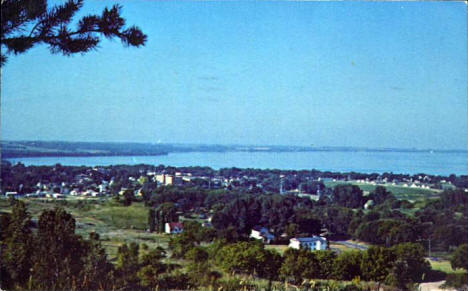 View from Mount Lookout, Glenwood Minnesota, 1965