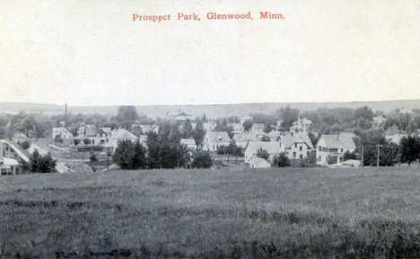 View from Prospect Park, Glenwood Minnesota, 1910's