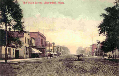 Main Street, Glenwood Minnesota, 1909