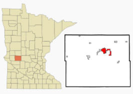 Location of Glenwood, Minnesota