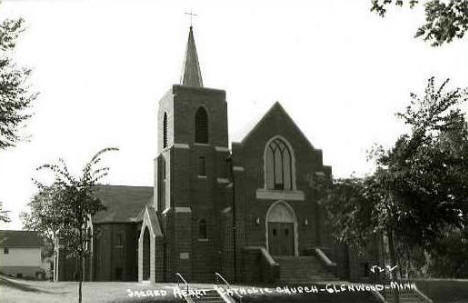 Sacred Heart Catholic Church, Glenwood Minnesota, 1950's?