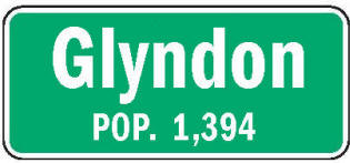 Glyndon Minnesota population sign