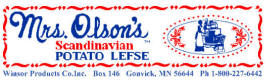 Winsor Products Lefse Factory, Gonvivk Minnesota