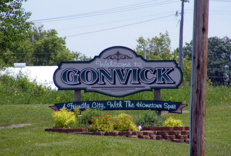 Welcome to Gonvick Minnesota Sign, 2008