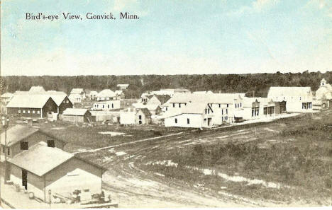 Birds eye view, Gonvick Minnesota, 1915