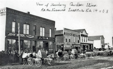 Farmer's Institute, Goodhue Minnesota, 1908