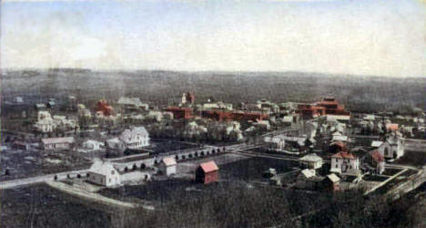 Birdseye View, Goodhue Minnesota, 1908