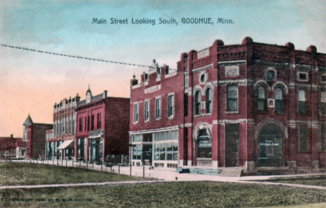 Main Street looking south, Goodhue Minnesota, 1908