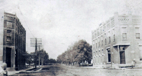 Third Street looking west, Goodhue Minnesota, 1912