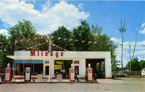 Fred's Mileage Service and Cafe, Goodland Minnesota, 1950's?