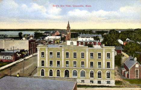Birds eye view, Graceville Minnesota, 1909