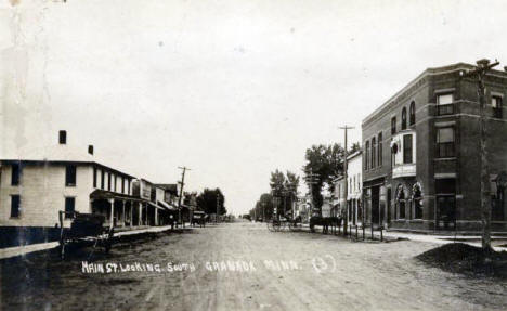 Main Street looking South, Granada Minnesota, 1910's?