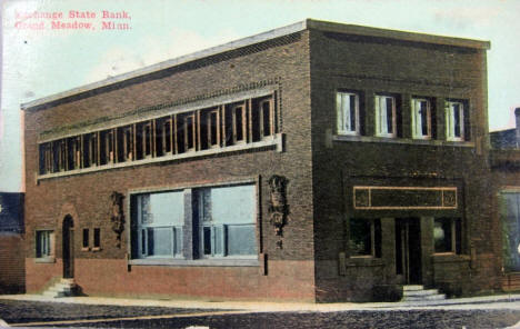 Exchange State Bank, Grand Meadow Minnesota, 1911