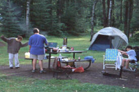 Devilfish Lake Campground, near Grand Marais Minnesota