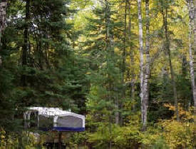 Kimball Lake Campground in the Superior National Forest near Grand Marais Minnesota