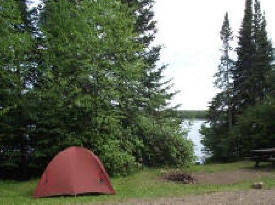 Devil Track Lake Campground in the Superior National Forest near Grand Marais Minnesota