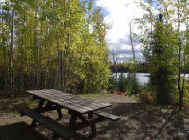 Flour Lake Campground in the Superior National Forest near Grand Marais Minnesota