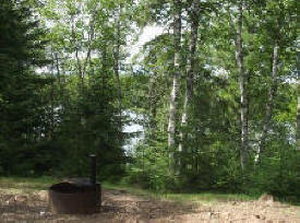 Two Island Lake Campground in the Superior National Forest near Grand Marais Minnesota