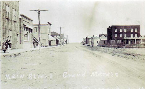 Main Street, Grand Marais Minnesota, 1910's