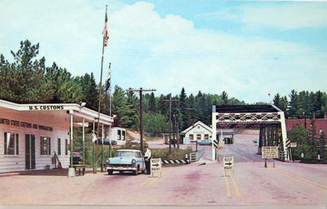 US Customs at Pigeon River Border Crossing, Grand Portage Minnesota, 1950's