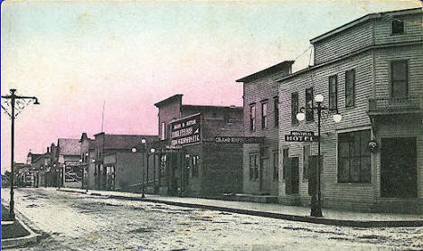 Third Street, Grand Rapids Minnesota, 1912