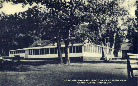Main Lodge at Camp Mishawaka, Grand Rapids Minnesota, 1940's?